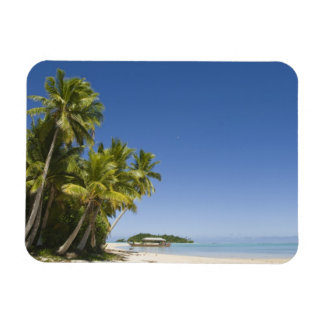 Cook Islands, Aitutaki. Polynesian canoe tour to Rectangular Photo Magnet