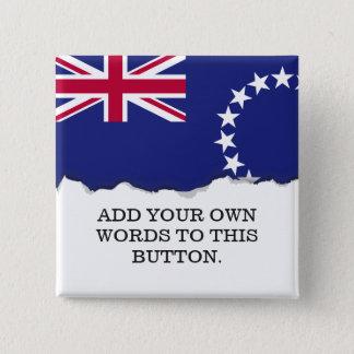 Cook Islands flag 15 Cm Square Badge