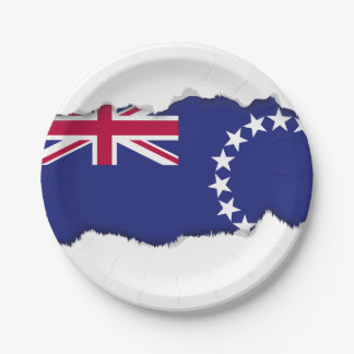 Cook Islands flag 7 Inch Paper Plate