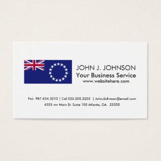 Cook Islands flag Business Card