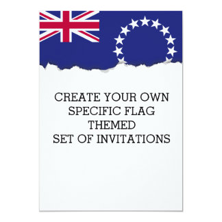 Cook Islands flag Card