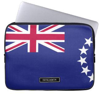 Cook Islands flag Laptop Sleeve