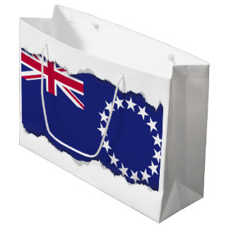 Cook Islands flag Large Gift Bag