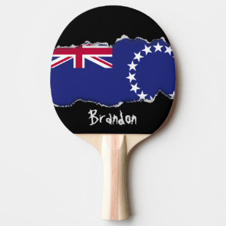 Cook Islands flag Ping Pong Paddle