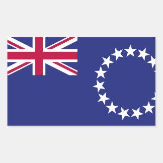Cook Islands flag Rectangular Sticker