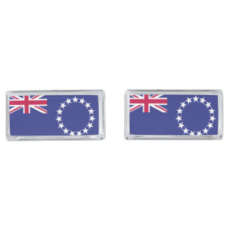 Cook Islands flag Silver Finish Cuff Links