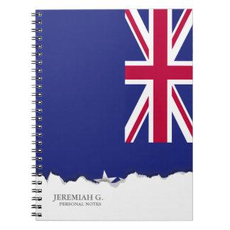 Cook Islands flag Spiral Notebook