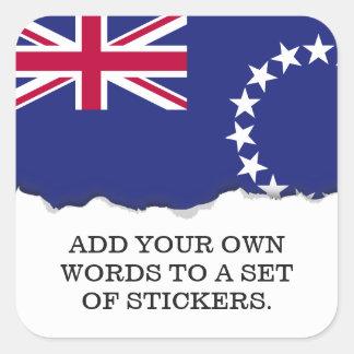 Cook Islands flag Square Sticker