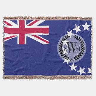 Cook Islands flag Throw Blanket