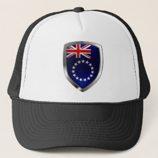 Cook Islands Mettalic Emblem Trucker Hat