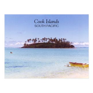 Cook Islands South Pacific Photo Vintage 1998 Postcard