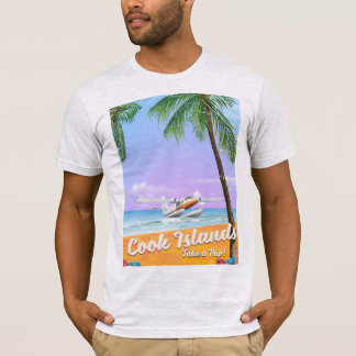 Cook Islands Vintage travel beach poster. T-Shirt