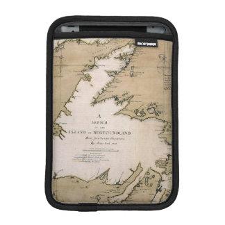 COOK: NEWFOUNDLAND, 1763 iPad MINI SLEEVES