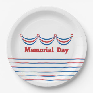 Cook Out Memorial Day Party Paper Plates