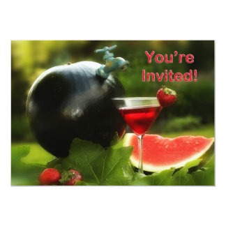 "Cook-Out - Party Invitations 5"" X 7"" Invitation Card"