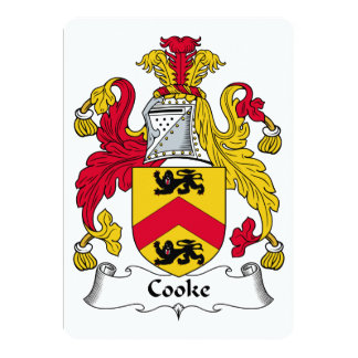 Cooke Family Crest Announcements