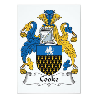 Cooke Family Crest Cards