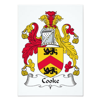 Cooke Family Crest Invites