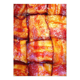 Cooked Bacon Weave 14 Cm X 19 Cm Invitation Card