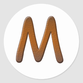 Cooked Brownie Monogram Stickers