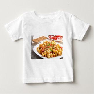 Cooked pasta cavatappi closeup baby T-Shirt
