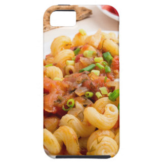 Cooked pasta cavatappi closeup case for the iPhone 5