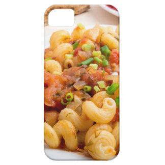 Cooked pasta cavatappi closeup iPhone 5 case