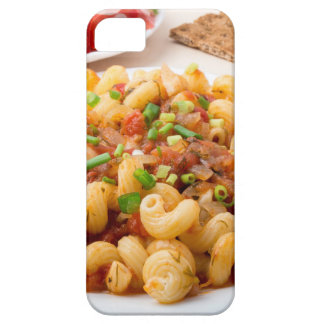 Cooked pasta cavatappi with stewed vegetable sauce iPhone 5 covers