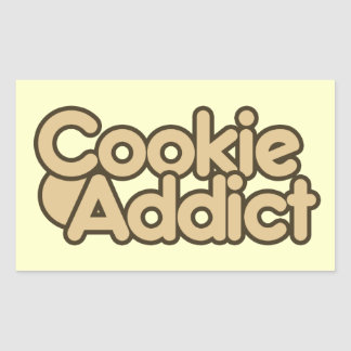 Cookie Addict Rectangular Sticker