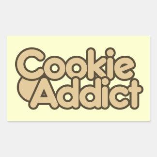 Cookie Addict Rectangle Sticker