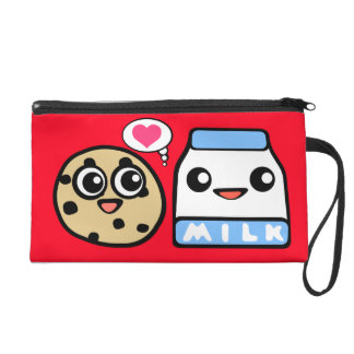 Cookie and Milk Wristlet Purses