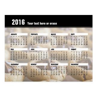 Cookie Calendar Postcard 2016