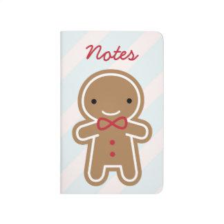 Cookie Cute Kawaii Gingerbread Man Journals