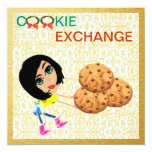 "Cookie Exchange Invitation 5.25"" Square Invitation Card"
