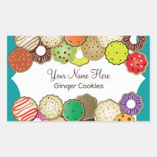 Cookie Exchange Party Label Rectangular Sticker