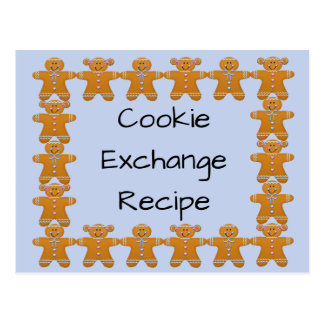 Cookie Exchange Recipe~Gingerbread~Customize Postcard