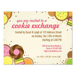Cookie Exchange Swap Party Invite w/ Instructions