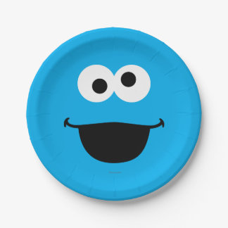 Cookie Face Art 7 Inch Paper Plate