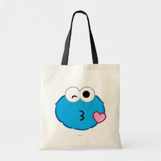Cookie Face Throwing a Kiss Budget Tote Bag