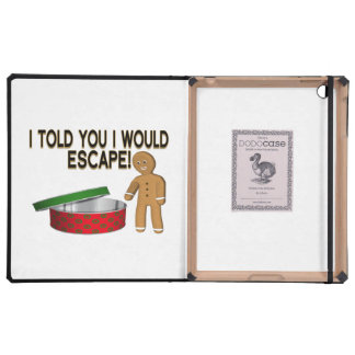 Cookie Gingerbread Man Escape iPad Case