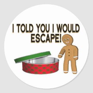 Cookie Gingerbread Man Escape Stickers