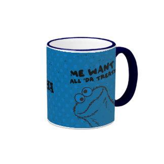 Cookie Monster - All 'Da Treats! Ringer Mug