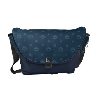 Cookie Monster and Cookies Blue Navy Pattern Commuter Bags
