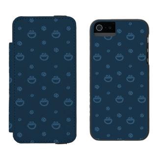 Cookie Monster and Cookies Blue Navy Pattern Incipio Watson™ iPhone 5 Wallet Case