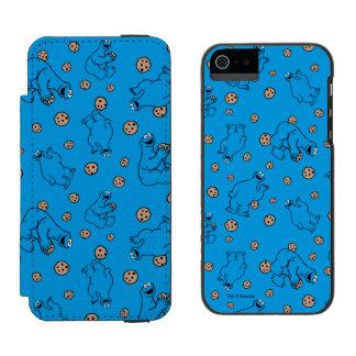 Cookie Monster and Cookies Blue Pattern Incipio Watson™ iPhone 5 Wallet Case