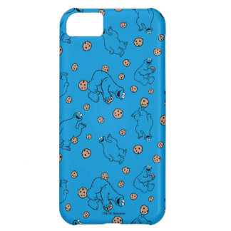 Cookie Monster and Cookies Blue Pattern iPhone 5C Case