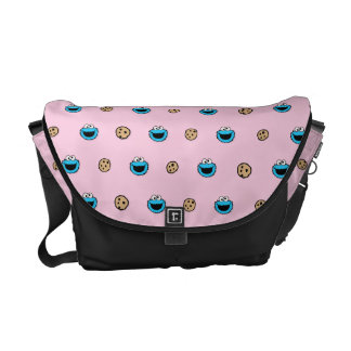 Cookie Monster and Cookies Pink Pattern Courier Bag