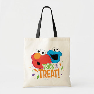 Cookie Monster and Elmo - Trick or Treat Budget Tote Bag