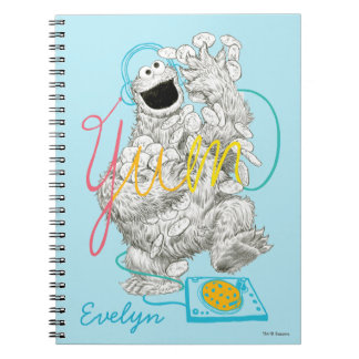 Cookie Monster B&W Sketch | Add Your Name Notebooks