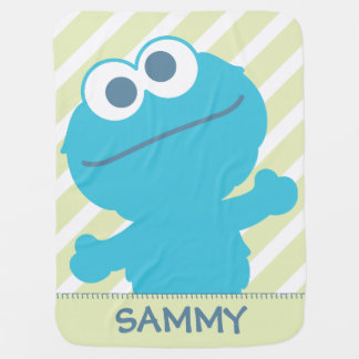 Cookie Monster Baby | Add Your Name Baby Blanket